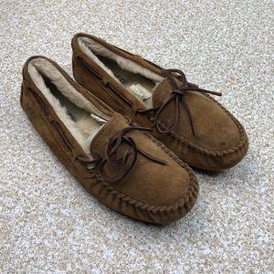 UGG Dakota Brown Loafers 7 Slip On Driving Shoes